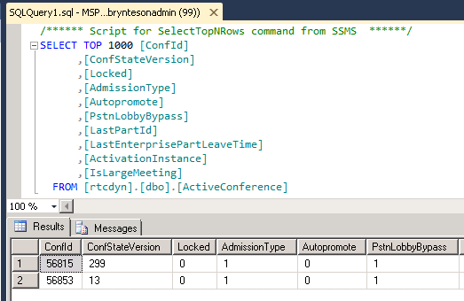 List all Active Conferences via PowerShell – Mastering Skype